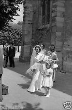 Mariage Eglise Demoiselle d'Honneur -  Négatif photo ancien