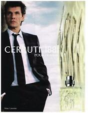 PUBLICITE ADVERTISING  2010  CERRUTI 1881     MARC LAVOINE  Parfum