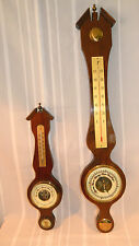 2 Vintage BANJO WALL BAROMETERS THERMOMETERS made in GERMANY   33""
