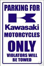 KAWASAKI  MOTORCYCLE PARKING SIGN -aluminum top quality
