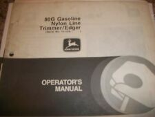John Deere Operator'S Manual 80G Nylon Line Trimmer/Edger