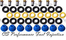Ford v8 Fuel Injector Repair Service Kit Seals Filters Pintle Caps CSKBO18