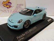 """Minichamps CA04316085 # Porsche 911 (991) GT3 Baujahr 2013 """" gulf blau """" 1:43"""