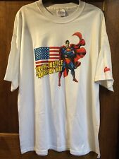 "Vintage Superman ""Vérité, Justice..."" T-shirt, taille XL, ex Shop Stock"