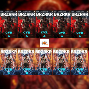 BRZRKR #1 10 Copies - 5 Cover A & 5 Cover B Investor Pack! Movie? Brooks Bermejo