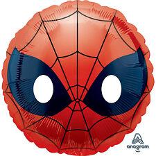 """Spiderman Enoji 18"""" Round Helium Foil Balloon Children Birthday Party"""