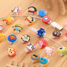 10pcs/set Cartoon USB Charger Cable Saver Protector for iPhone 8 X 5s 6+ 6s+ 7+