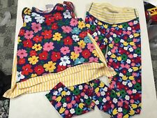 Hanna Andersson Adorable Fun Color Swing Top & Yoga Pants Outfit 130 7 8
