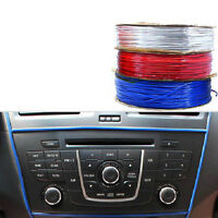 5M Car DIY Blue Bright trim resin Interior Body Dashboard Decoration Universal