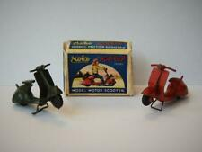 EARLY MOKO LESNEY 1950-55 DIECAST POP POP SCOOTERS x 2 WITH COPY BOX VERY RARE