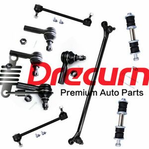 9PC Front Center Drag Link Inner Outer Tie Rod Rear Sway Bar For 2000-04 Xterra