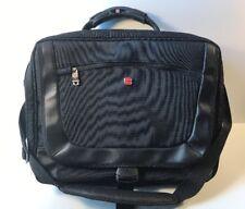 """MINT Swiss Gear Wenger 16"""" Black Laptop Briefcase Messenger Bag Shoulder Strap"""