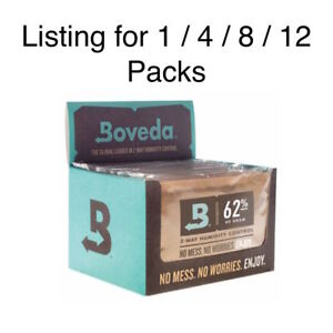 Neuf Boveda 62% Rh Humidité Contrôle Grand 67 Gram Taille Individuellement 60