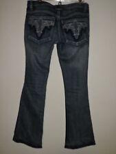 Antik Denim Sz 28 x 30   Distressed Embellished Pockets Blue Jeans