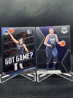 2019-20 Panini Mosaic Luka Doncic Base & Got Game 2 Card Lot Dallas Mavericks