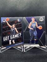 2019-20 Panini Mosaic Luka Doncic Base & Got Game 2 Card Lot Dallas Mavericks