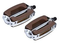 """NEW! Bike Bicycle Brown Krate Pedals 1/2"""" CRUISER LOWRIDER CHOPPER Pedals"""