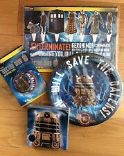 DOCTOR WHO DALEK TARDIS Party Pack -Plates, Napkins, Cake Toppers, Cupcake Cases