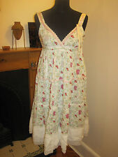 PEPE JEANS DRESS 12 Holly Hobbie PRAIRIE CHIC lace flowery New BOHO GRUNGE