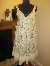 PEPE JEANS DRESS 12 Holly Hobbie PRAIRIE CHIC lace flowery New BOHO GRUNGE