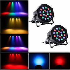 2Pcs Rgb Par38 18-Led Stage Lighting Dmx-512 Dmx Party Dj Disco Projector Lights