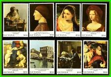 GUYANA #2 (we have other #1,3,4,5,6) PAINTINGS by VERMEER, TITIAN, RAPHAEL MNH
