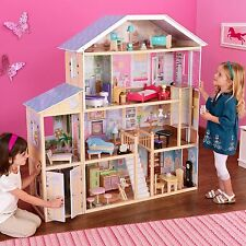 New KidKraft Majestic Mansion Doll House Large Furniture Kids Play Fits Barbies