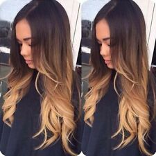 Three Tone #2/4/27 Lace Front Wig Ombre Blonde Body Wave Human Hair Wigs 18in