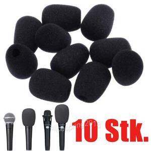 10tlg Mikrofon Windschutz Popschutz Windschutzscheiben Schwammabdeckung Schutz