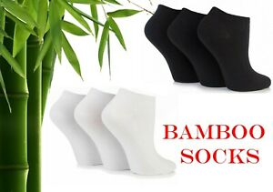 New 12 Pair Pack Ladies Men's Breathable Bamboo Ankle Trainer Socks Shoe Liners