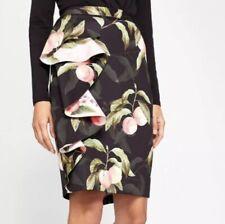 0b3c6bf475 Women's Ted Baker Blayyke Peach Ruffle Midi Skirt Size 4 = US
