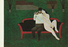 """Picture postcard - """"A-MOLL"""" by JAN BALET (1913-2009), German - naive art, nude"""