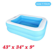 1.1M Inflatable Swimming Pool Outdoor Family Inflatable Pool For Kids Adults UK