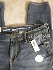 Old Navy Women's Super Skinny Mid-Rise Med Wash Ankle Tight Jeans Size 6 Reg NWT