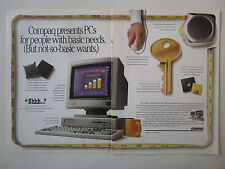 3/1991 PUB COMPAQ PERSONAL COMPUTER PC ORDINATEUR DESKPRO 386 386N 286N AD