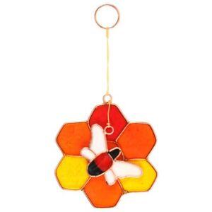 Bee & Honeycomb Suncatcher, Fun Bright Window Display, Window Hanging Ornament