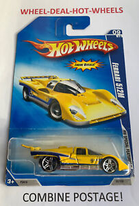 🔸HOT WHEELS 2009 FERRARI 512M SPECIAL FEATURE ENGINE REVEAL YELLOW VERY RARE🔸
