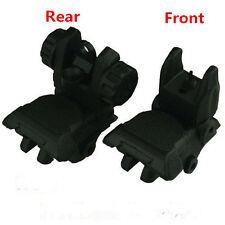 Black Color Polymer Flip-up Back-down Front And Rear Sight Complete Set