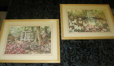 SANDY L CLOUGH, TWO SIGNED FRAMED AND MATTED LE 453/1500 & 185/1500 ART PRINTS