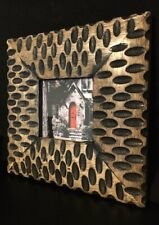 """Square Handcrafted Wooden 3x3"""" Picture Frame Made in India Freestanding"""