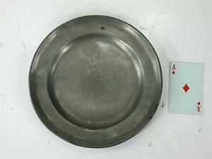 "Ca.1700 -1800's Pewter 8.7/8"" Plate Makers Mark C. H. Zinn German or English"