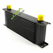 Universal 10-AN 15 Row Oil Cooler AN-10 Aluminum Engine Transmission Black