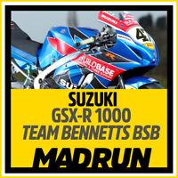 Kit Adesivi Suzuki GSX-R 1000 BSB Buildbase Bennetts 2018 - High Quality Decals