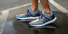 Adidas Ultra Boost Men's Running (Size 9.5) Grey Pink Yellow AQ4003 Ultraboost