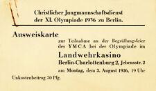 Olympic Games Juegos Olímpicos Berlín 1936 identificación cvjm olimpiada