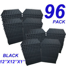 96 Pack Acoustic Foam Panel Wedge Studio Soundproofing Wall Tiles 12