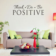Positive Quote Art Vinyl Wall Sticker Inspirational words Room Decal Home Decor