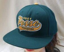 OBEY Posse Propaganda Green & Yellow Snapback Truckers Hat Cap OSFA