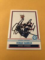 Roman Hamrlik Signed Montreal Canadiens Card 1a