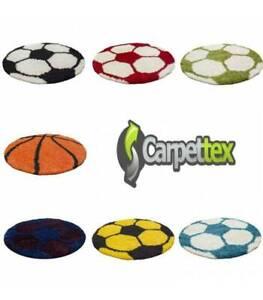 Kinderteppich für Kinderzimmer Fussball Basketball Hochflor Teppich